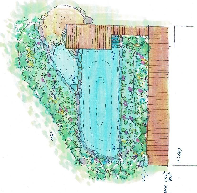 Koncepcja stawu kąpielowego