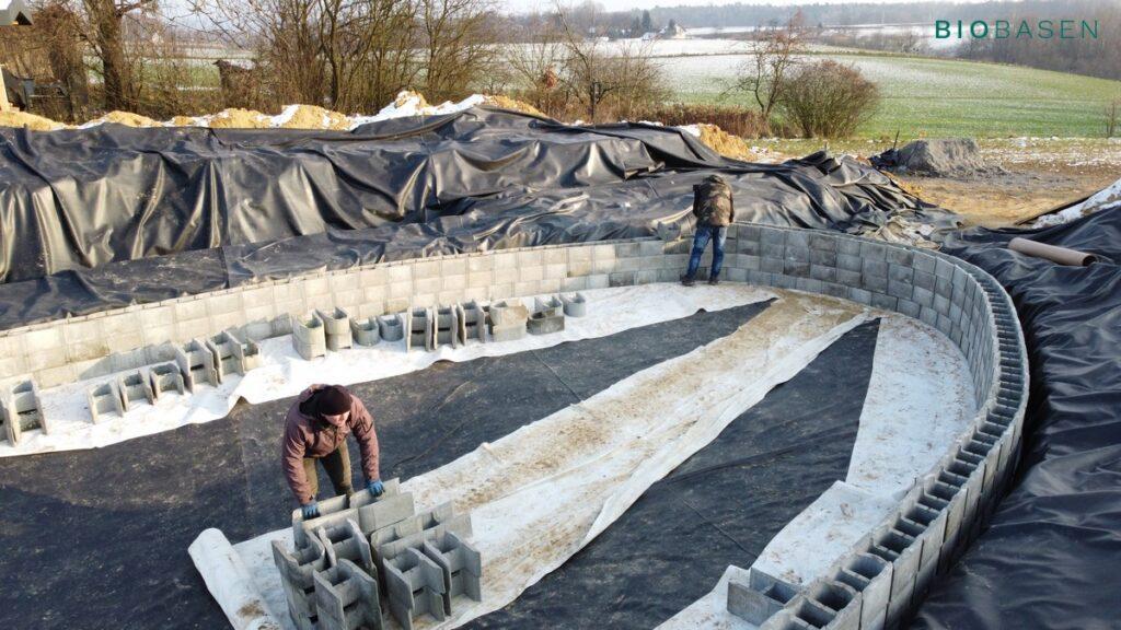 budowanie stawu kąpielowego - budowa biobasenu
