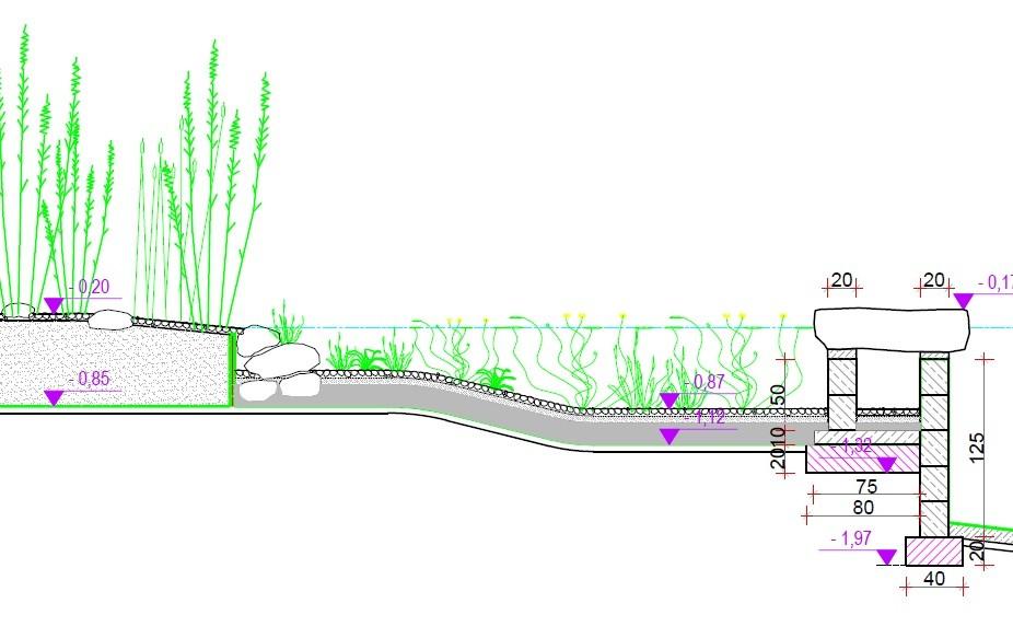 Projekt stawu kąpielowego, strefa regeneracyjna